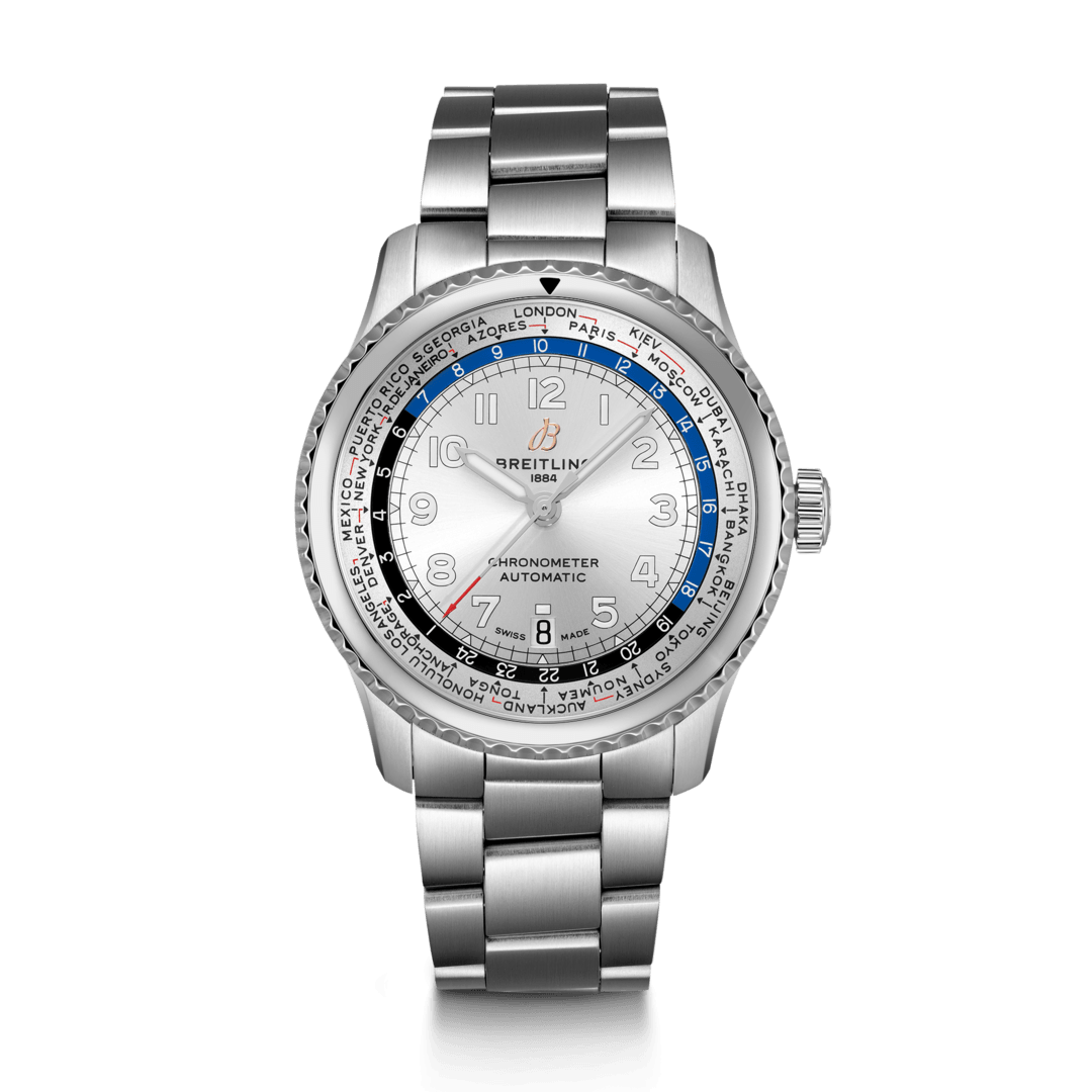Breitling-Aviator-8-B35-Automatic-Unitime-43-Hall-of-Time-AB3521U01G1A1