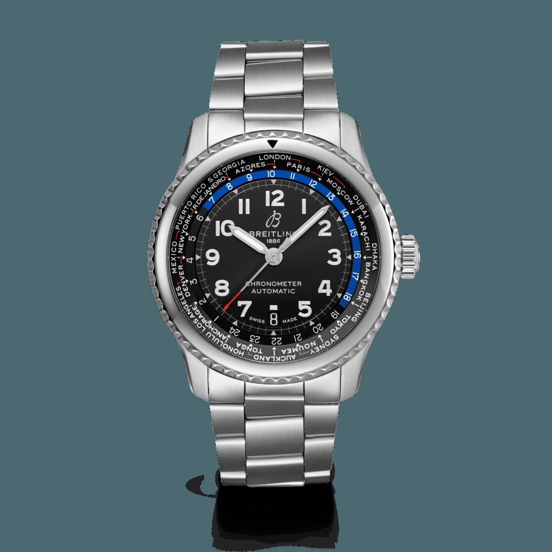 Breitling-Aviator-8-B35-Automatic-Unitime-43-Hall-of-Time-AB3521U41B1A1