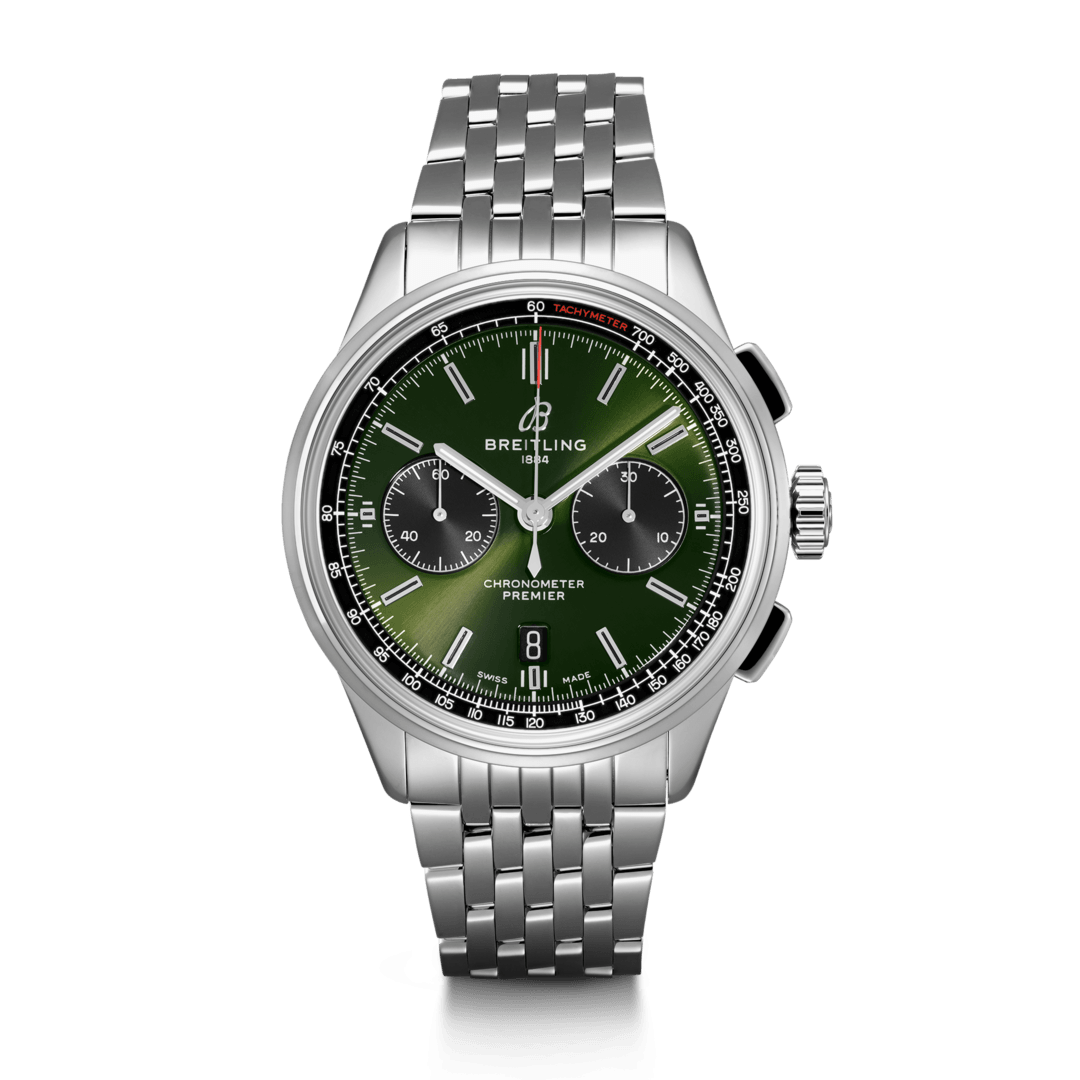 Breitling-Premier-B01-Chronograph-42-Bentley-British-Racing-Green-Hall-of-Time-AB0118A11L1A1