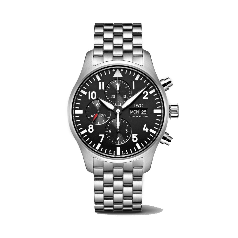 IWC-Montre-Montres-d'Aviateur-Classique-Chronographe-Hall-of-Time-IW377710