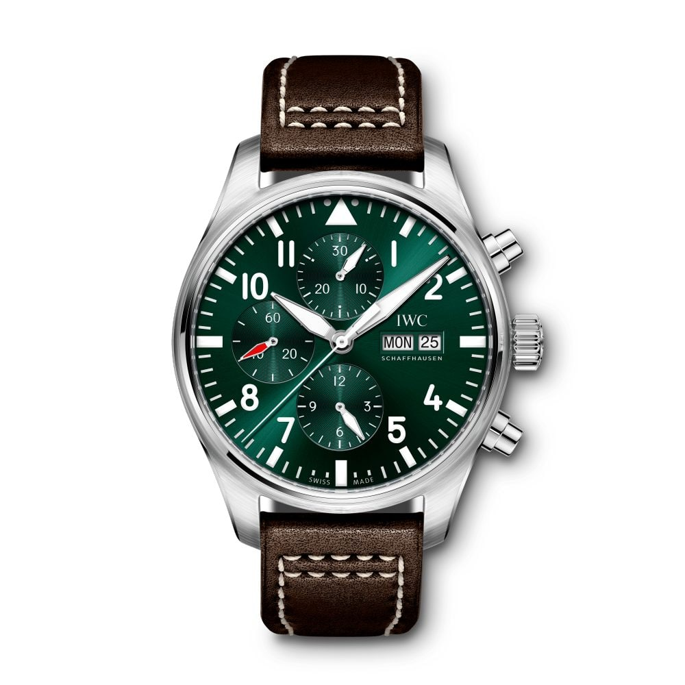 IWC-Montre-Montres-d'Aviateur-Classique-Chronographe-Racing-Green-Hall-of-Time-IW377726