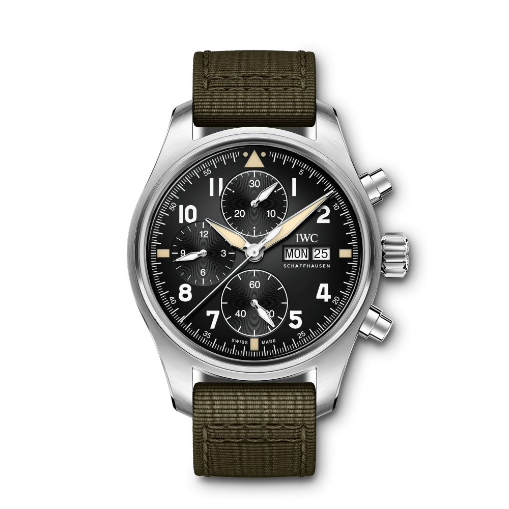 IWC-Montre-Montres-d'Aviateur-Spitfire-Chronographe-Hall-of-Time-IW387901