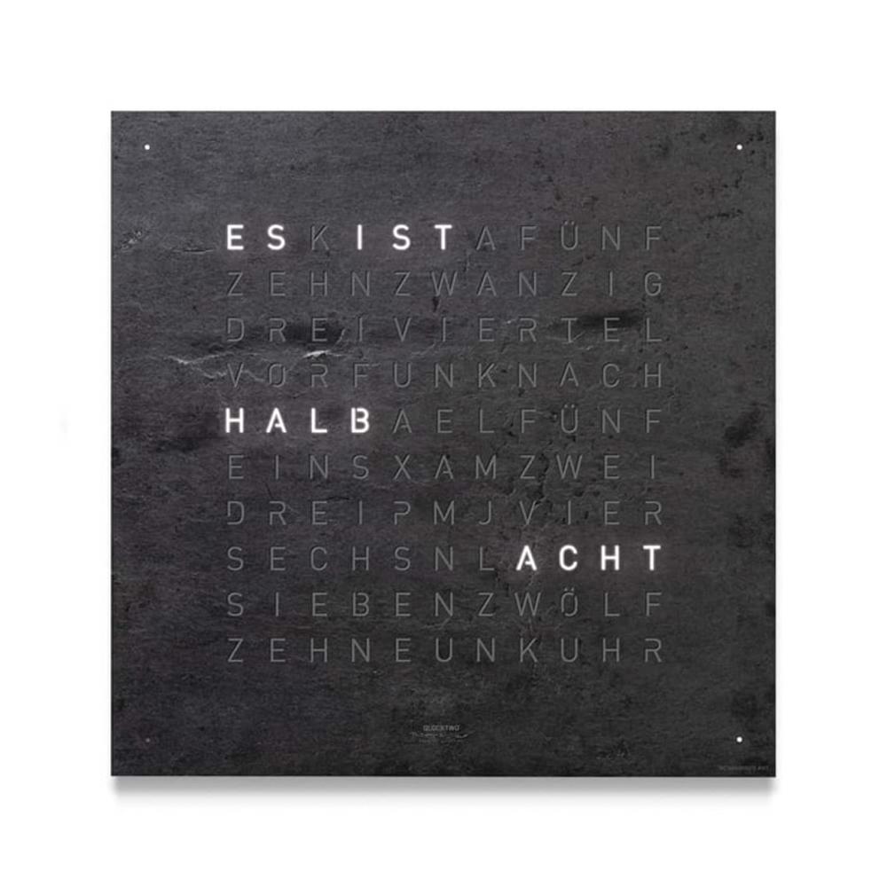 Montre-Horloge-Qlocktwo-Classic-Creator's-Edition-Metamorphite-Hall-of-Time-Bruxelles