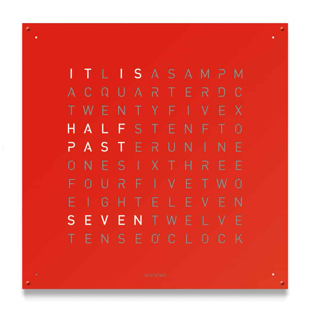 Montre-Horloge-Qlocktwo-Large-Red-Pepper-Hall-of-Time-Bruxelles