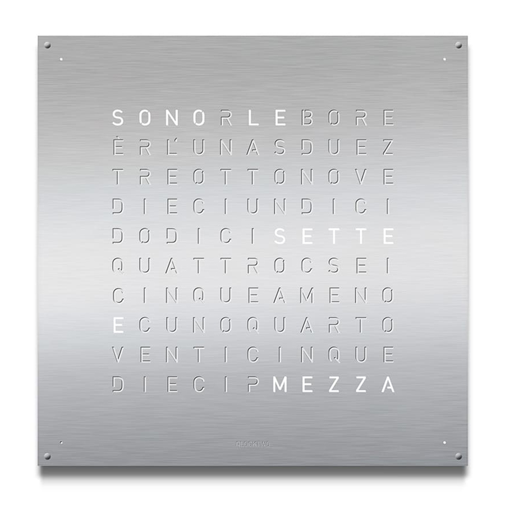 Montre-Horloge-Qlocktwo-Large-Stainless-Steel-Hall-of-Time-Bruxelles