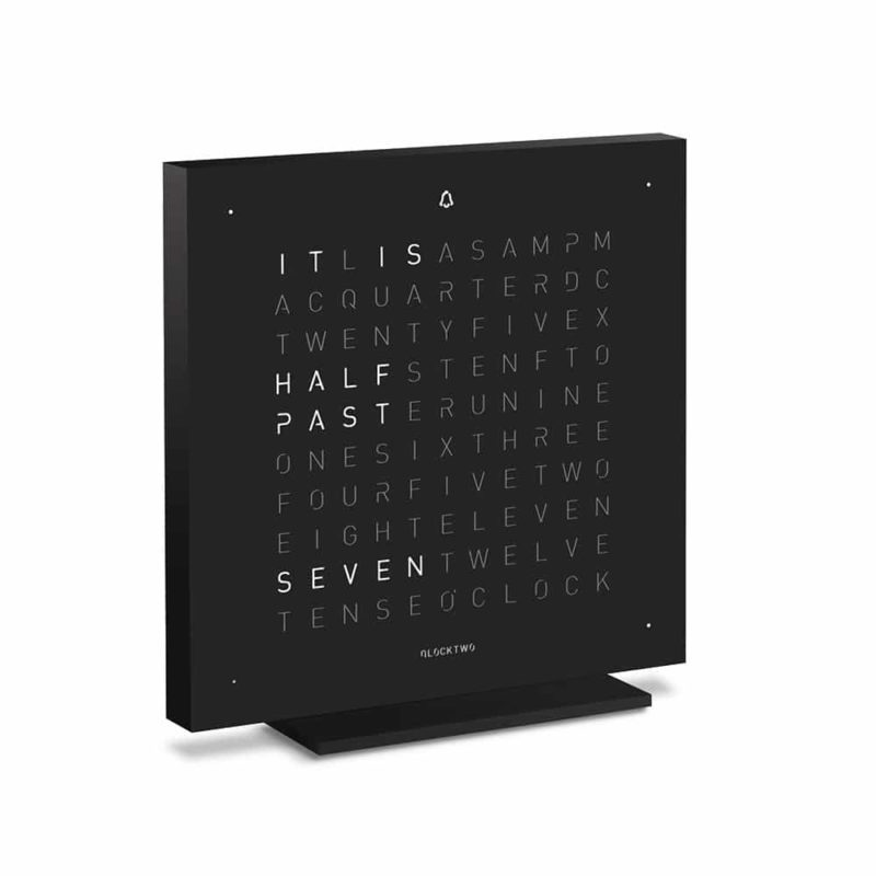 Montre-Horloge-Qlocktwo-Touch-Deep-Black-Hall-of-Time-Bruxelles