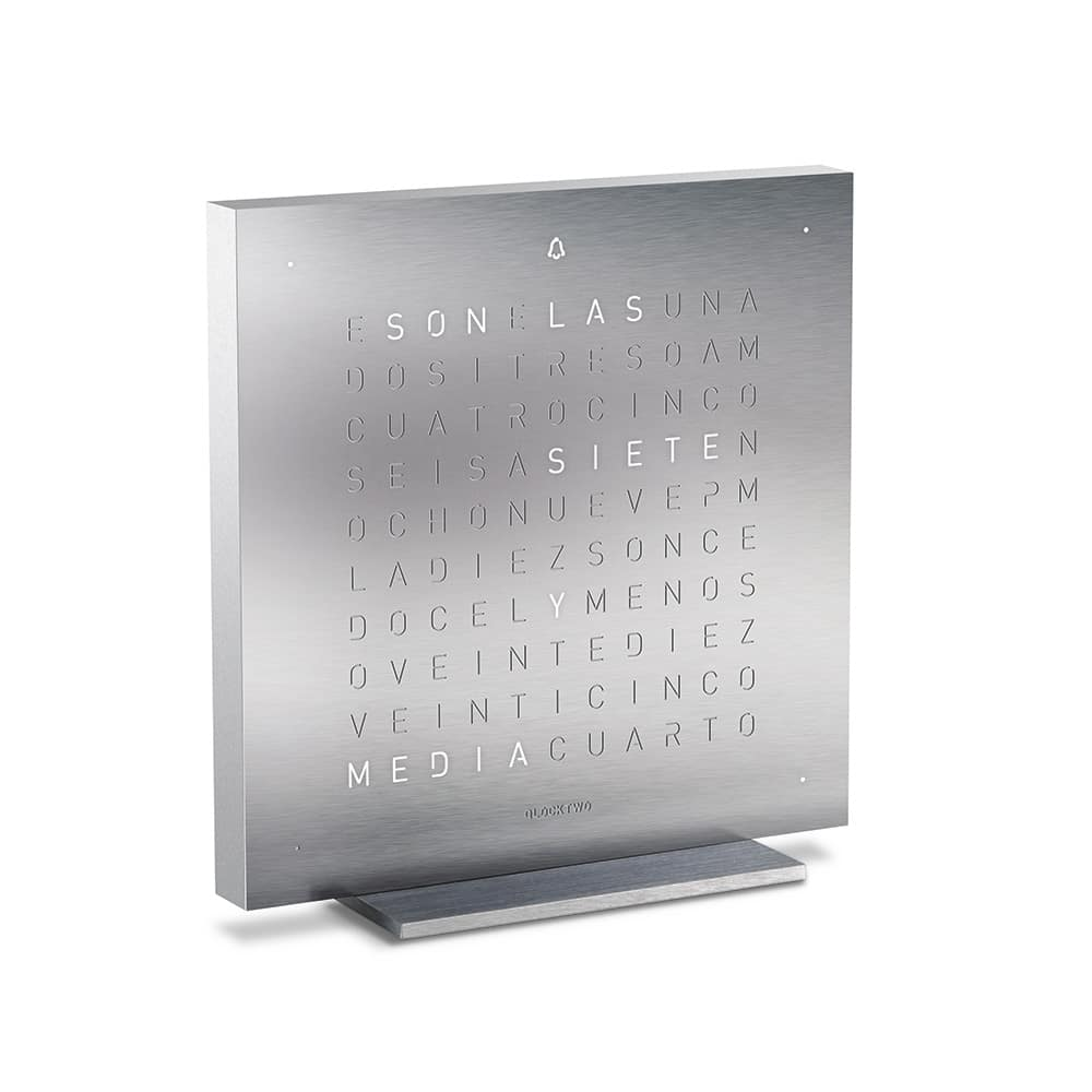 Montre-Horloge-Qlocktwo-Touch-Full-Metal-Hall-of-Time-Bruxelles