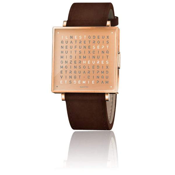 montre-qlocktwo-w35-copper-leather-vintage-brown-biegert-funk-Hall-of-Time-Bruxelles-