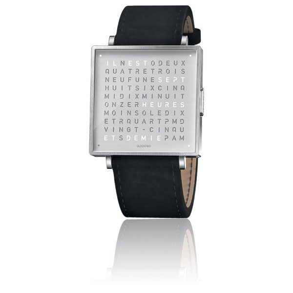 montre-qlocktwo-w35-fine-steel-leather-suede-black-biegert-funk-Hall-of-Time-Bruxelles-